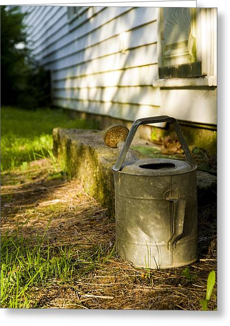 Maine Farms Greeting Cards - Watering Can Greeting Card by Dan Poirier