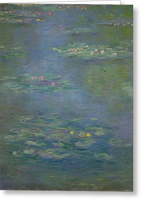 Waterlilies, Detail, 1903 Greeting Card by Claude Monet