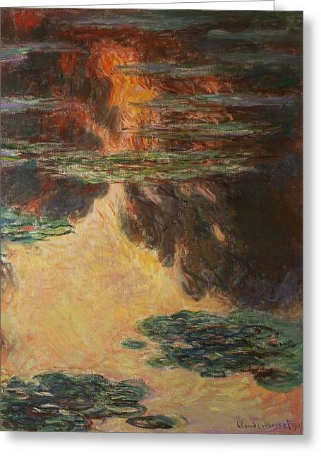 Nympheas Greeting Cards - Waterlilies, Detail, 1907 Oil On Canvas See Also 196299 Greeting Card by Claude Monet