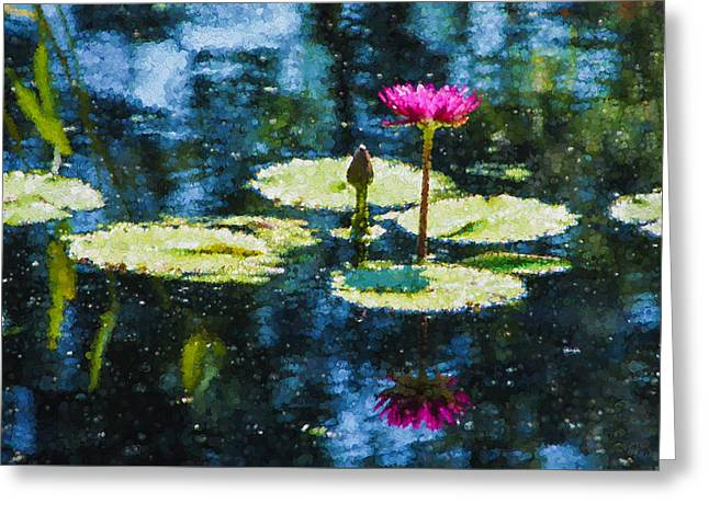 Lilly Pads Greeting Cards - Impressions - Dreaming of Monet Gardens Greeting Card by Georgia Mizuleva