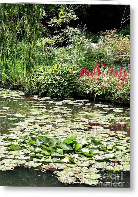 Christiane Schulze Greeting Cards - Waterlily Pond Giverney Greeting Card by Christiane Schulze Art And Photography