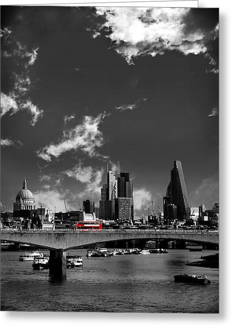 Shards Greeting Cards - Waterloo Bridge London Greeting Card by Mark Rogan