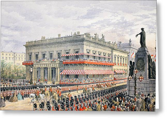 Royalty Greeting Cards - Waterloo Place and Pall Mall Greeting Card by English School