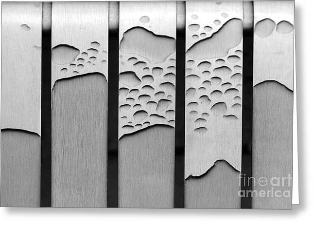 Abstract Rain Greeting Cards - Watermarked Greeting Card by Wendy Wilton