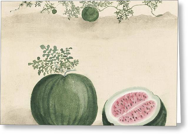 Watermelon Greeting Cards - Watermelon Greeting Card by Aged Pixel