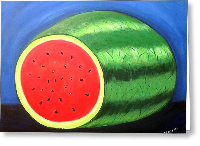 Watermelon Greeting Cards - Watermelon Greeting Card by Deyanira Harris