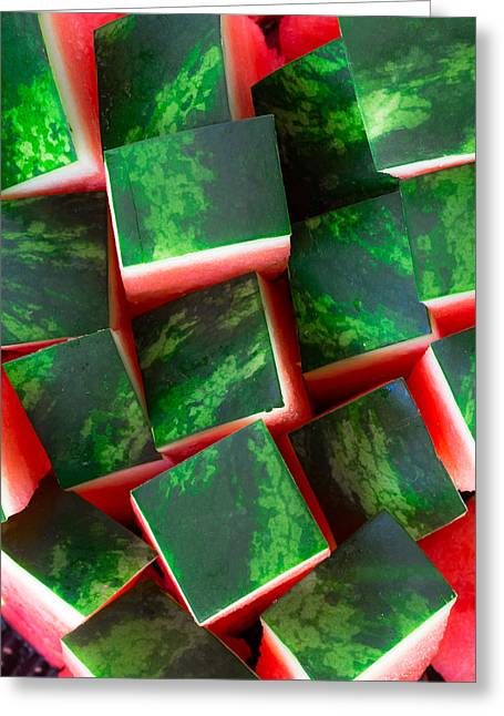 Watermelon Greeting Cards - Watermelon Greeting Card by Edgar Laureano