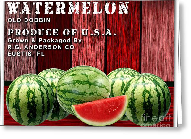 Recently Sold -  - Watermelon Greeting Cards - Watermelon Farm Greeting Card by Marvin Blaine