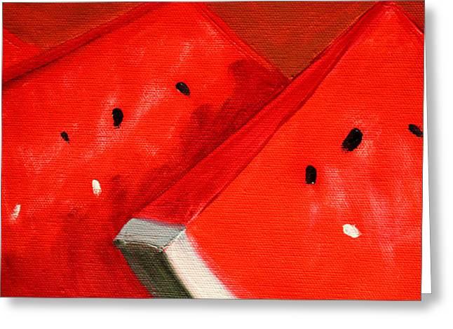 Watermelon Greeting Card by Nancy Merkle