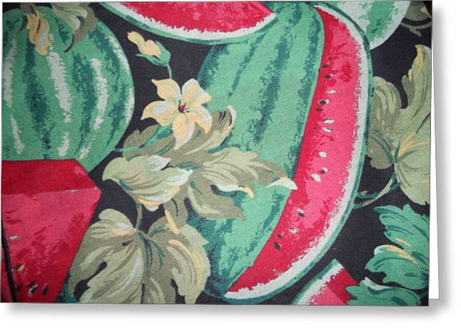Watermelon Greeting Cards - Watermelon Rendition Greeting Card by Dotti Hannum