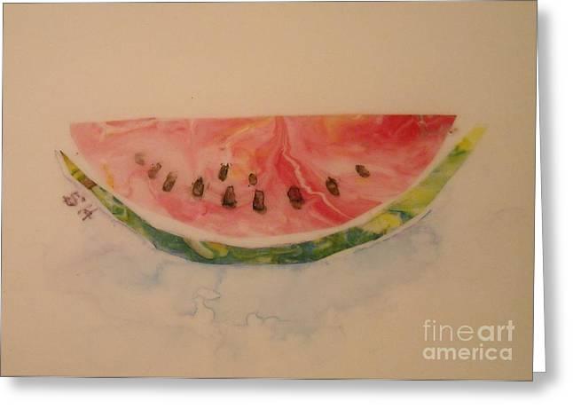 Watermelon Greeting Cards - Watermelon Greeting Card by Sheri Hubbard