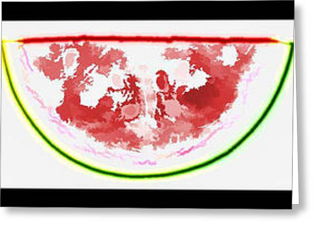 Watermelon Greeting Cards - Watermelon Slices Greeting Card by Don and Sheryl Cooper
