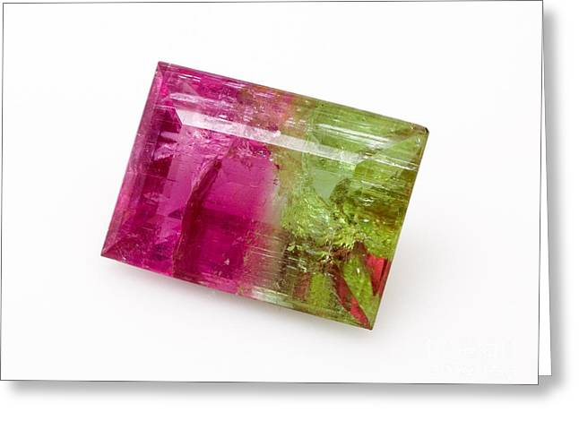 Watermelon Tourmaline Greeting Card by Natural History Museum, London