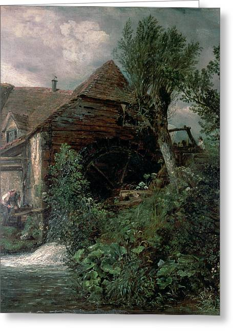Mills Greeting Cards - Watermill At Gillingham, Dorset Greeting Card by John Constable