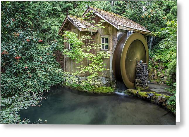 Lush Green Greeting Cards - Watermill in motion Greeting Card by Pierre Leclerc Photography