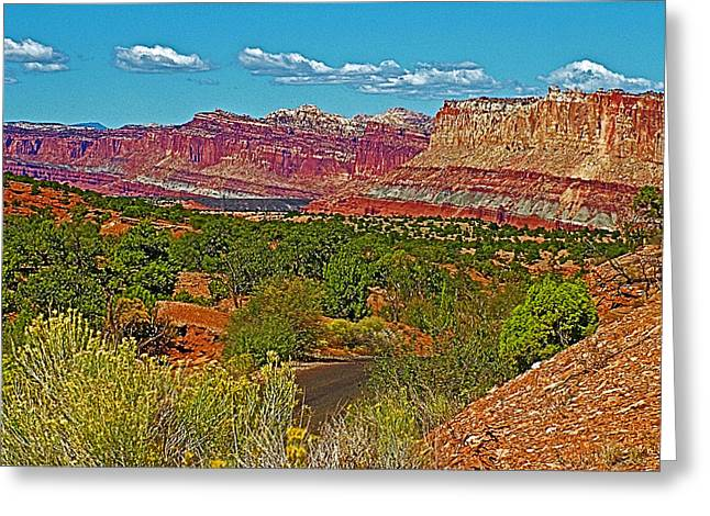 Scenic Drive Digital Greeting Cards - Waterpocket Fold on Scenic Drive in Capitol Reef National Park-Utah Greeting Card by Ruth Hager