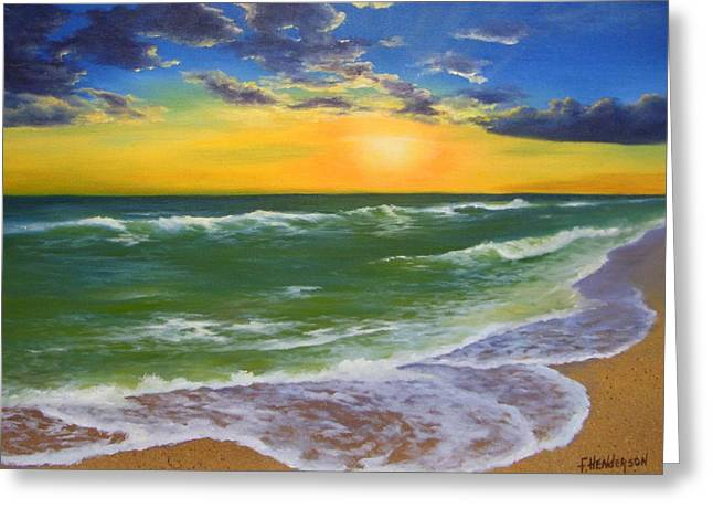 On The Beach Greeting Cards - Waters Edge Greeting Card by Francine Henderson