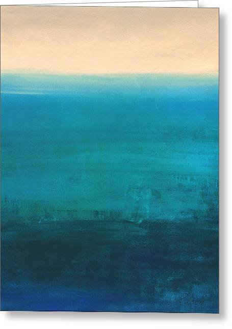 Colbalt Blue Greeting Cards - Waters Edge Greeting Card by Victoria Kloch
