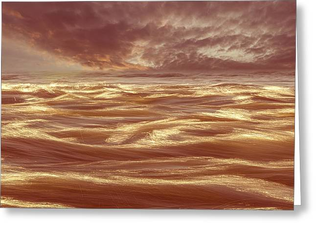 Abstract Waves Greeting Cards - Waterscape Number Seven Greeting Card by Bob Orsillo