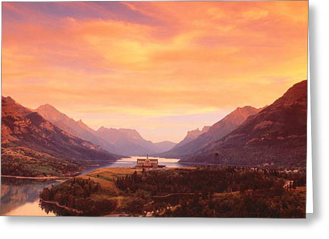 Landscapes Of Wales Greeting Cards - Waterton Lakes National Park, Alberta Greeting Card by Panoramic Images