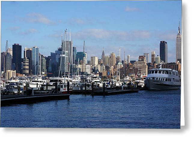 Brian Jones Greeting Cards - Waterview of Manhattan Greeting Card by Brian Jones