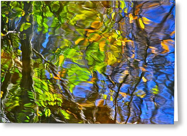 Immersed Greeting Cards - Watery Autumn Reflection Greeting Card by Frozen in Time Fine Art Photography