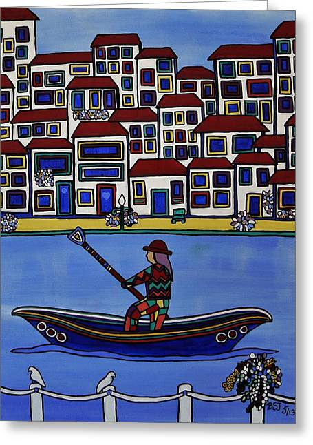Saint Jean Art Gallery Greeting Cards - Watery Venice Greeting Card by Barbara St Jean