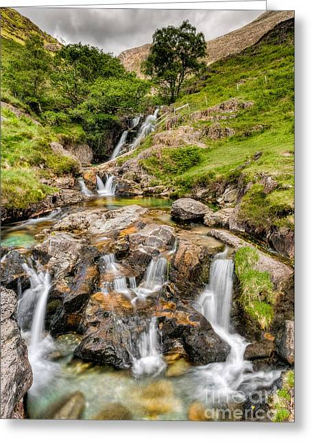 National Digital Art Greeting Cards - Watkin Falls Greeting Card by Adrian Evans