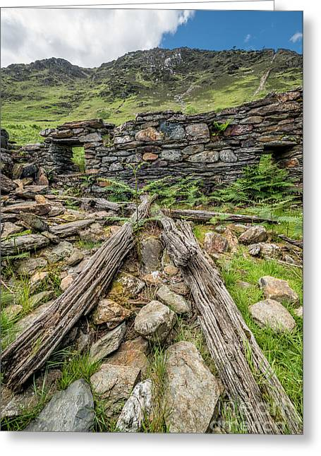 National Digital Art Greeting Cards - Watkin Path Ruin Greeting Card by Adrian Evans