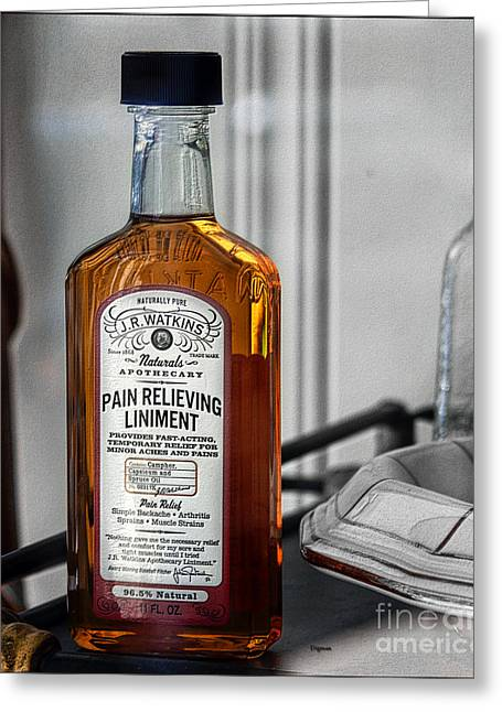 Liniment Greeting Cards - Watkins Cure All  Greeting Card by Steven  Digman