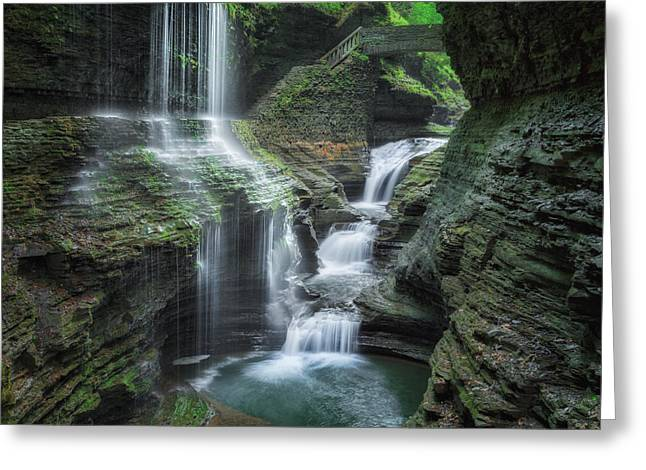 Seneca Valley Greeting Cards - Watkins Glen Greeting Card by Bill  Wakeley