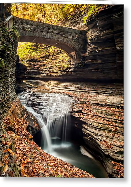 Fingerlakes Greeting Cards - Watkins Glen Gorge Greeting Card by Gary Fossaceca