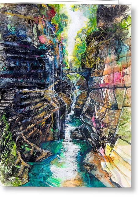 Watkins Glen Gorge Greeting Card by Patricia Allingham Carlson