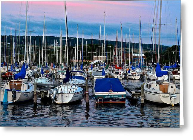 Tremendous Greeting Cards - Watkins Glen Marina Greeting Card by Frozen in Time Fine Art Photography