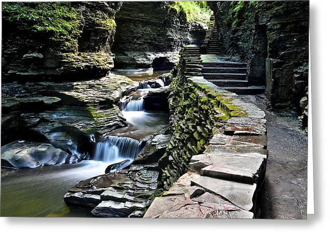Watkins Glen State Park Greeting Card by Frozen in Time Fine Art Photography