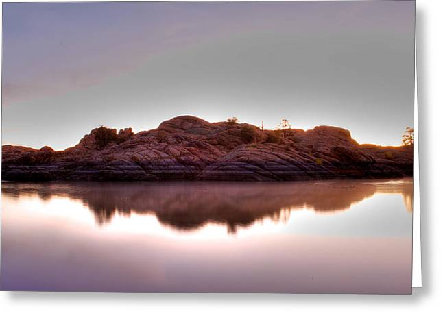 Watson Lake Reflections Greeting Cards - Watson lake Greeting Card by Doug Nelson