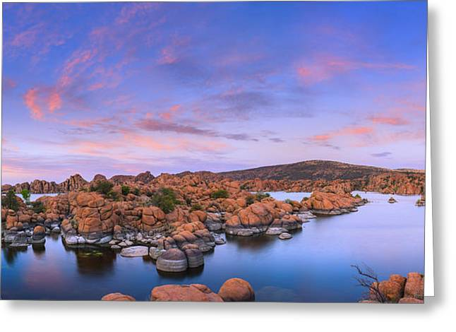 Watson Lake In Prescott - Arizona Greeting Card by Henk Meijer Photography