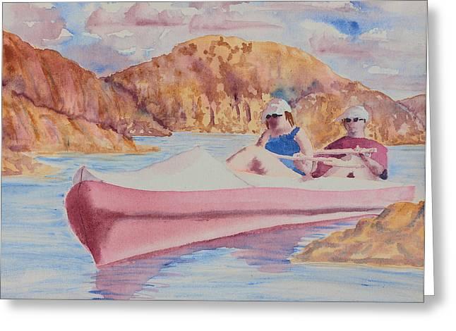 Prescott Paintings Greeting Cards - Watson Lake Greeting Card by Melanie Harman