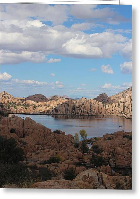 Watson Lake Greeting Cards - Watson Lake Greeting Card by Valerie Loop