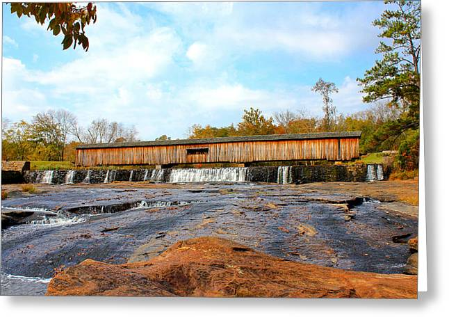 Covered Bridge Greeting Cards - Watson Mill Covered Bridge 6 Greeting Card by Reid Callaway