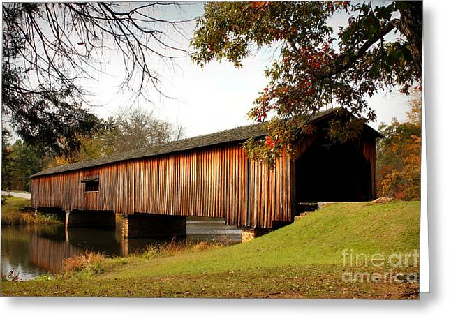 Covered Bridge Greeting Cards - Watson Mill Covered Bridge Greeting Card by Reid Callaway
