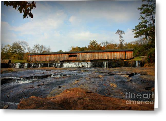 Covered Bridge Greeting Cards - Watson Mill Covered Bridge too Greeting Card by Reid Callaway