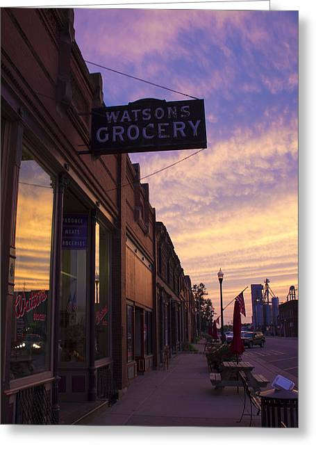 Recently Sold -  - Grocery Store Greeting Cards - Watsons Grocery Greeting Card by Bailey Barry