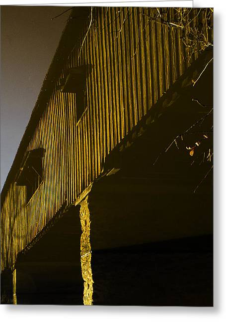 Stagnant Greeting Cards - Watsons Mill Bridge Reflection Upside Down Greeting Card by Geoffrey Wallace