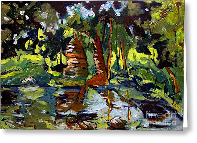 Idealized Greeting Cards - Wattesons Eel River Greeting Card by Charlie Spear