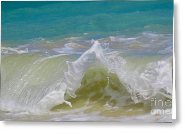 Wave 3 Greeting Card by Cheryl Young