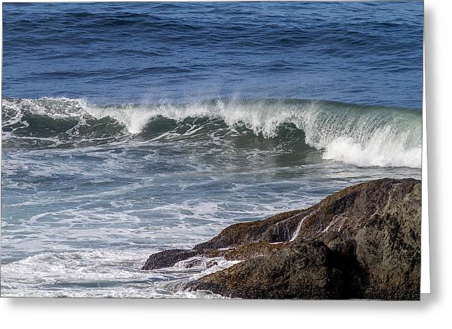 Wave Tapestries - Textiles Greeting Cards - Wave Action Greeting Card by Dennis Bucklin