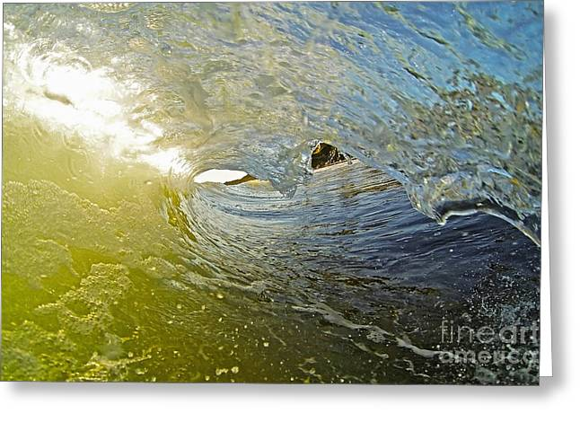 Surfing Photos Greeting Cards - Wave Cave Greeting Card by Paul Topp