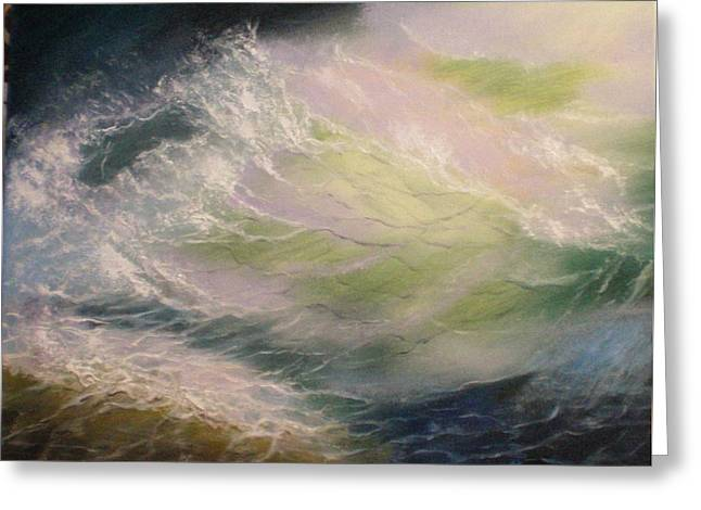 Wave Greeting Card by Elena Sokolova