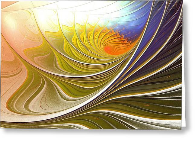 Life Line Mixed Media Greeting Cards - Wave Game Greeting Card by Anastasiya Malakhova